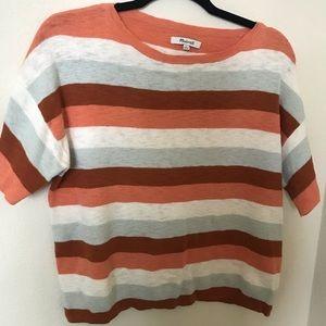 Madewell pastel stripe sweater tee- Size S
